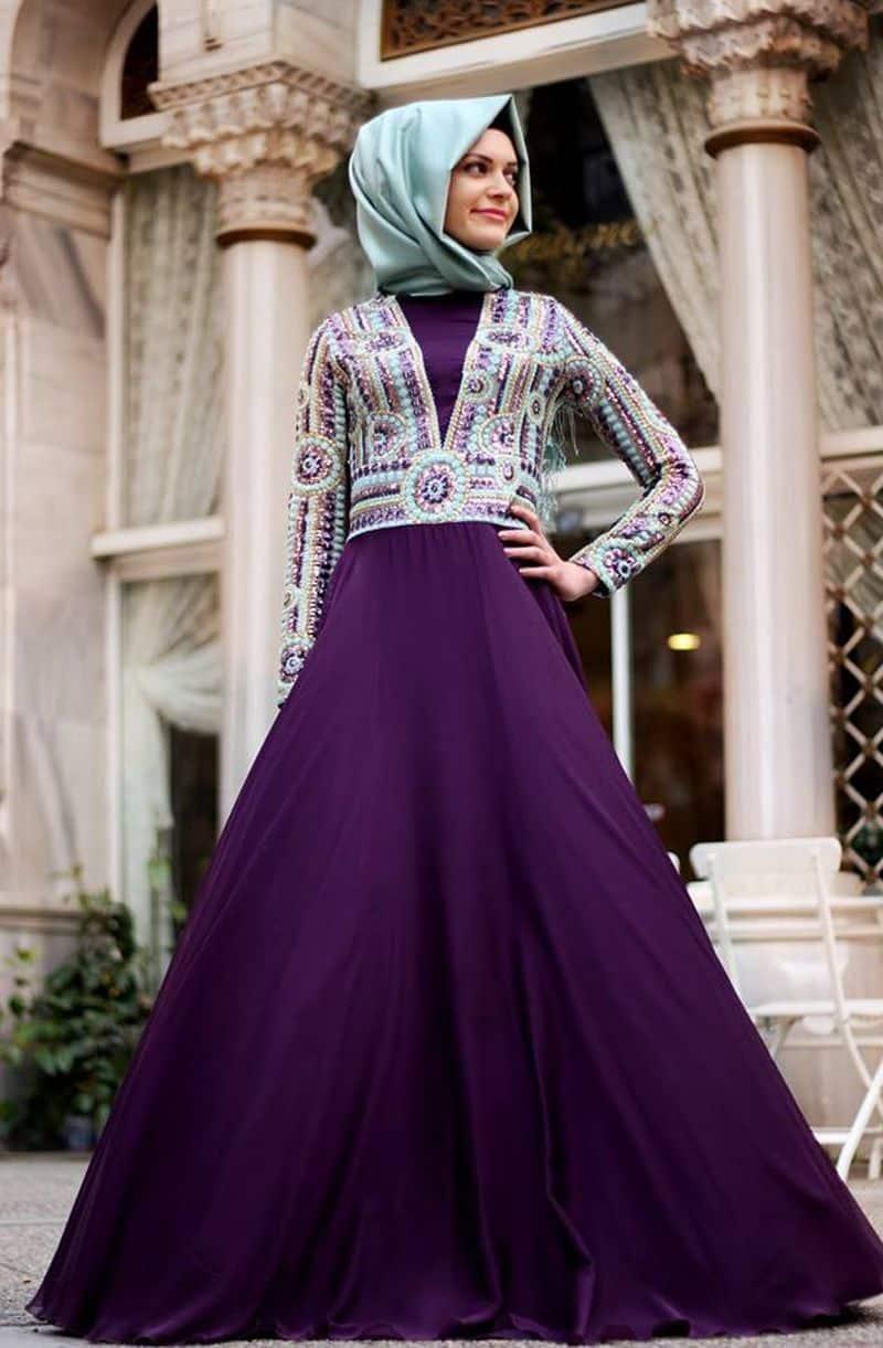 صور أزياء محجبات للسهرة رائعة
