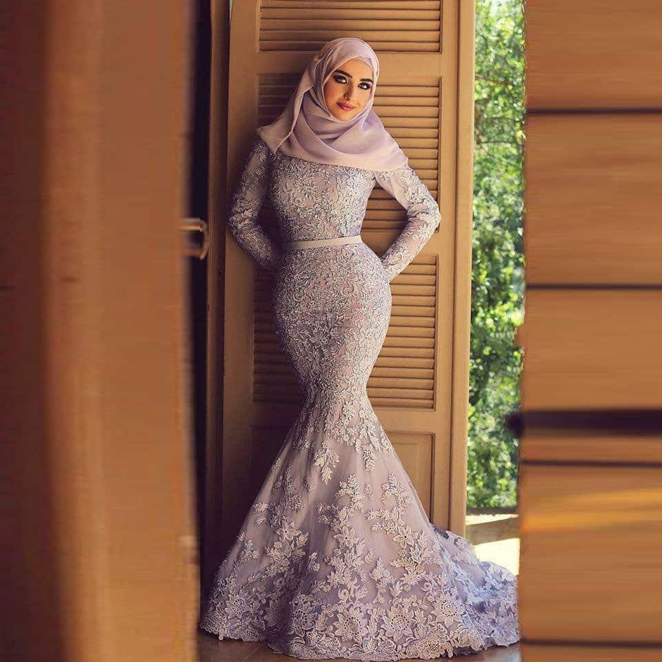 صور أزياء محجبات للسهرة جامدة